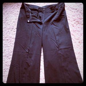 Black wide leg work pants